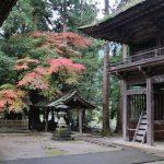 現在の洲原神社の紅葉です