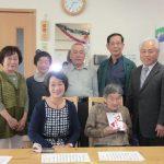 2016年4月15日 100歳到達者へ市長がお祝いを届けました