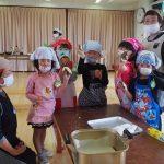 2016年4月27日 松美保育園でかしわ餅づくりが行われました