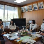 2016年5月18日 武義高校総合編集部が市長を訪問しました。