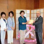 2016年6月17日 美濃和紙ちぎり絵サークルからの熊本地震義援金を届けます