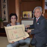 2016年6月29日 故梅村勇氏に瑞宝双光章が贈られました