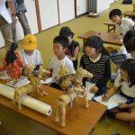 2016年7月13日 牧谷小学校児童が虫送りを学びました