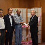 2016年7月26日 美濃にわか茶屋生産者の会などからの熊本地震義援金を届けます