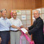 2016年8月19日 熊本地震の被災者への義援金が届けられました