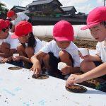 2016年9月7日 中有知小学校でダイコンの種まきが行われました