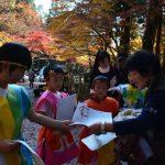 2016年11月22日 大矢田小児童が手作りの新聞を配布しました