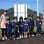 2016年11月22日 牧谷保育園児が交通安全啓発運動を行いました