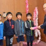 2016年12月14日 中有知小学校の児童が寄附に訪れました