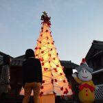 2016年12月2日 美濃和紙のクリスマスツリー