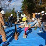 2016年12月18日 古城山ふれあいの森で薪づくり体験が開催されました。