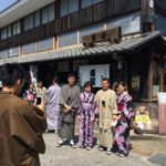 Every day in Mino city, there are people who have many kimono experiences from abroad.