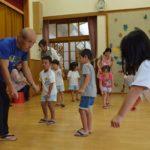 2017年7月11日 牧谷保育園園児が盆踊りの練習を行いました