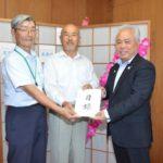 2017年8月17日 平成29年7月九州北部豪雨の被災者への義援金が届けられました
