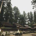 雨の洲原神社。