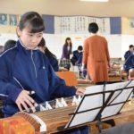 2018年2月15日 美濃中学校で邦楽勉強会が開かれました