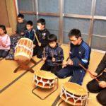 2018年3月16日 上条神楽保存会の練習に地元小学生が参加しました