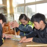 2018年2月28日 大矢田小学校で横笛づくりが行われました