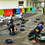 2018年4月12日 牧谷小学校児童が和紙染めに挑戦しました
