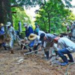 2018年7月15日 豪雨での土砂の撤去作業を行いました