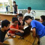2018年7月24日 藍見小学校でプログラミング教室が行われました