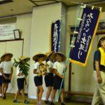 2018年7月17日 牧谷小学校児童が虫送りを学びました