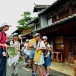 2018年7月28日 北海道士幌町の児童がうだつの町並みを見学しました