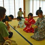 2018年8月25日 児童茶道講座で「ミニ茶会」が開催されました