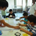 2018年8月5日 藍見公民館主催の化石のレプリカ作り教室が行われました