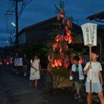 2018年8月15日 大矢田地区で送り火が行われました