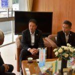 2018年10月17日 日本スポーツマスターズ委員長が美濃市長を表敬訪問しました