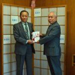 2018年10月29日 丸喜石油㈱から産業祭協力金を寄附いただきました