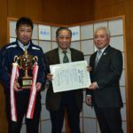2018年12月25日 丸喜石油軟式野球チームが優勝報告に訪れました