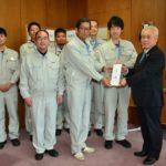 2018年12月27日 JAM日本トムソン労働組合岐阜支部と日本トムソン㈱岐阜製作所がみのりの家にタブレットを寄贈しました