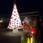 和紙で出来たクリスマスツリーです。
