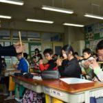 2019年2月8日 大矢田小学校で横笛教室が行われました