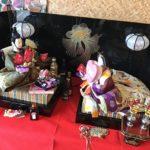 うだつの町並みで、雛人形を飾っているお店があります。