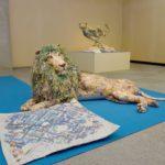 2019年4月17日 美濃和紙の里会館企画展「大きな龍(りゅう)と天空に遊べ すべて新聞紙でつくった動物たちのアート展」が始まりました