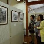 2019年5月24日 道の駅美濃にわか茶屋で水墨画展が開かれています